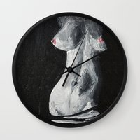 erotic Wall Clocks featuring Erotic by Bazarovart