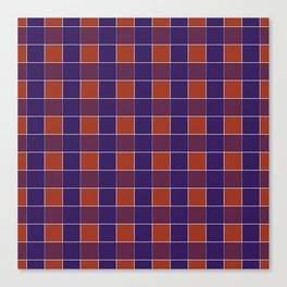 PLAID, RED AND BLUE Canvas Print