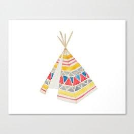 Tepee Canvas Print
