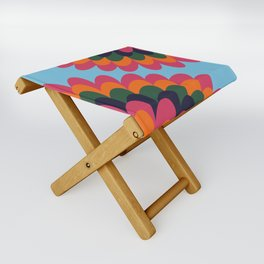 Dahlia on an island Folding Stool