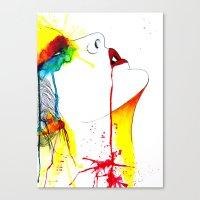 splatter Canvas Prints featuring Splatter by Jenny Huld