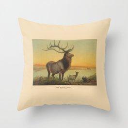 The Wapiti Deer Throw Pillow