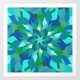 Healing Leaves Art Print