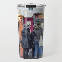 Old photo booth in Berlin Travel Mug