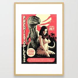 Prehistopless Framed Art Print