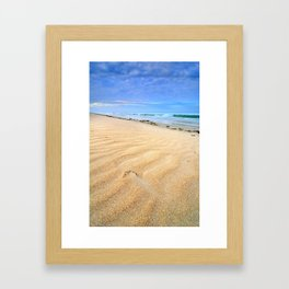 """Levante wind "" Magic Tarifa beach at sunrise Framed Art Print"