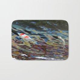 Watercolor Koi Bath Mat