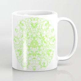 Mandala Trinity green Emerald Peridot Coffee Mug