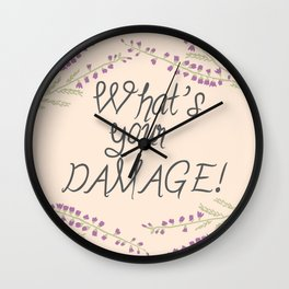 What's your Damage! Wall Clock