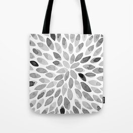 Watercolor brush strokes - black and white Tote Bag