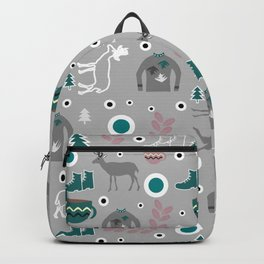 Deer and winter clothing Backpack