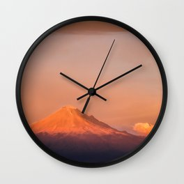 Popocatepetl is awakening Wall Clock