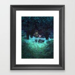 glow Framed Art Print