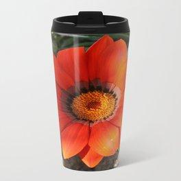 Close Up of a Beautiful Terracotta Gazania Flower Travel Mug