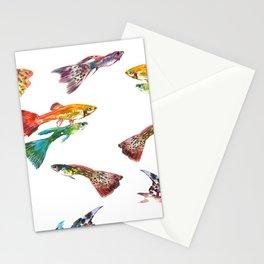 Guppy Aquarium Fish , Aquarium Art Underwater Stationery Cards