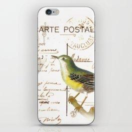 French bird iPhone Skin