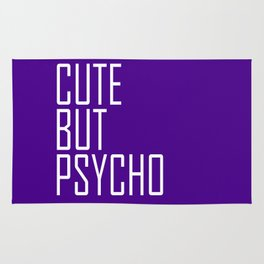 Cute By Psycho - Purple and White Rug