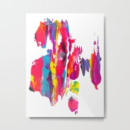 Abstract Paint Smear Party Metal Print