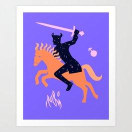 Apocalypse Horseman of War Art Print