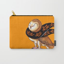 Happy Owl-o-Ween (Barn Owl) Carry-All Pouch