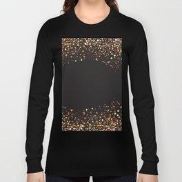 Black and gold #society6 Long Sleeve T-shirt