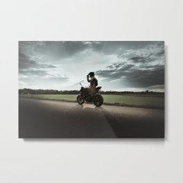 Ride alone Metal Print