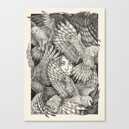 Daughter of owls Canvas Print