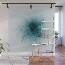 Dark Flower Fractal Wall Mural