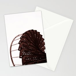 Rusty old industrial stairs Stationery Cards