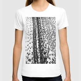 Footprints and traces in the snow - Fine Arts Abstract Photography T-shirt