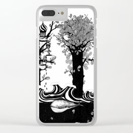 The Whale and The Balloons Clear iPhone Case