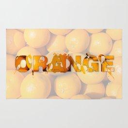 Orange splash art Rug