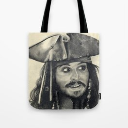 Captain Jack Sparrow ~ Johnny Depp Traditional Portrait Print Tote Bag