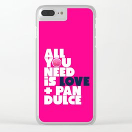 All you need is love & pan dulce Clear iPhone Case