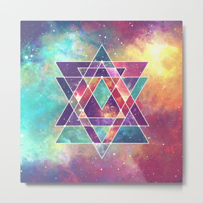 Sacred Geometry (Connection) Metal Print