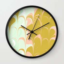 Abstract in Ice Cream Colors Wall Clock