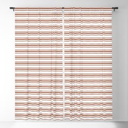 Sherwin Williams Cavern Clay Horizontal Line Pattern on White 2 Blackout Curtain