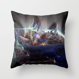 Departure from Delica-1 Throw Pillow
