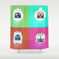 kiss Shower Curtains featuring Kiss by Beastie Toyz