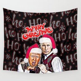 Merry Christmas From Trump And Putin Wall Tapestry