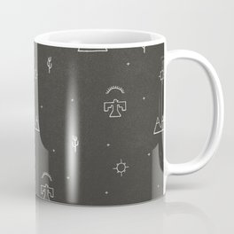 Death Valley in Black and Ivory Coffee Mug