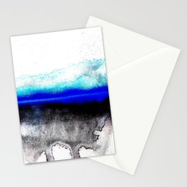 Abstract sunset blue Stationery Cards