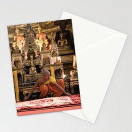Monks at Work in the Temple V - Luang Prabang, Laos Stationery Cards