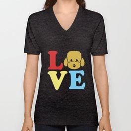 Goldendoodle Love Cute Doodle Dog Owner Poodle Pet Unisex V-Neck