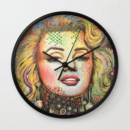 Marilyn / Original Hollywood Bombshell Modern Art Wall Clock