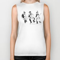 cello Biker Tanks featuring Cello player by Suzannah Rowntree