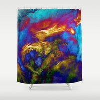 phoenix Shower Curtains featuring Phoenix by George Michael Art