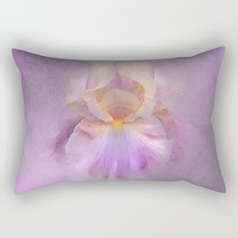 Rainbow Iris on Textured Purple Mauve Background Rectangular Pillow