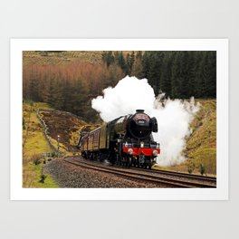 60103 Flying Scotsman at Blea Moor Art Print