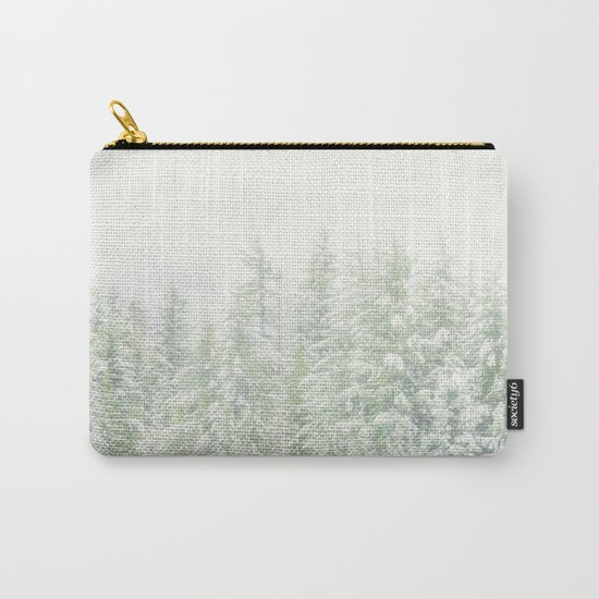 White Winter Forest with a Hint of Mint Carry-All Pouch